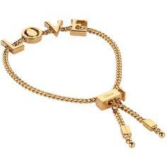 ChloÉ Happy Adjustable Bracelet In Gold Initial Jewelry, Initial Bracelet, Chloe Jewelry, Rebecca Davis, Girly, Bangles, Jewelry Bracelets, Jewellery, Adjustable Bracelet