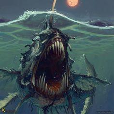 Markus Neidel est un illustrateur allemand de 29 ans basé à Hambourg. Il dessine essentiellement des créatures de fantasy. Squelettes, orcs, golems et autres kraken, les monstres les plus étranges et terrifiants répondent présents dans la sélection d'images ci-dessous. Pour en voir davantage, visitez son portfolio et son ArtStation.