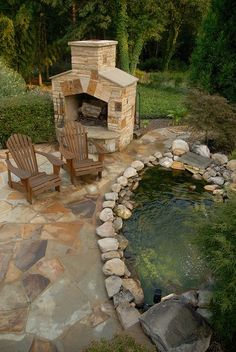 A beautiful koi pond. Perfect for lazy afternoons!