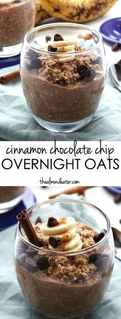 Cinnamon and chocolate for breakfast?! These overnight oats are healthy, refined sugar free and #dairyfree