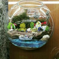 Little seaside village terrarium сад фей домики,
