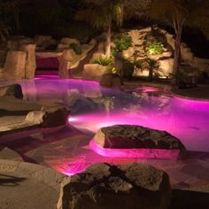 Pink Pool in backyard