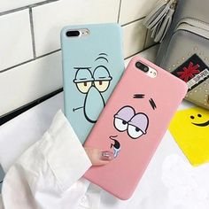 60232697da2 KL-Boutiques Cartoon Case For iphone 5 Cases Funny Face Couples Back Cover  For Fundas iPhone 6 7 8 Plus Hard PC Case Coque
