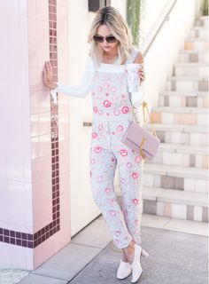 Sydne Style shows how to wear overalls with fashion bloggers late afternoon