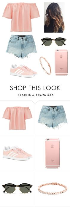 """Sans titre #1"" by narimel ❤ liked on Polyvore featuring Rebecca Taylor, T By Alexander Wang, adidas Originals and Ray-Ban"