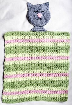 Free crochet pattern: Sleeping Kitty Lovey in Loops & Threads Impeccable Yarn by Underground Crafter | This sleeping kitty provides comfort and naptime companionship. This project was inspired by Ronald McDonald House Charities, an organization that provides a caring community for families with children being treated in hospitals. #CrochetCharityDrive #MadeWithMichaels