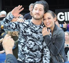 Strong bond: The meteorologist has grown close to her partner Valentin Chmerkovskiy (Maks's brother)