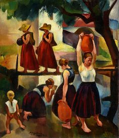Nagy Imre: Forrás, 1929. © Szépművészeti Múzeum Magyar Nemzeti Galéria Artists, Pictures, Paintings, Kunst, Photos, Paint, Painting Art, Painting, Painted Canvas