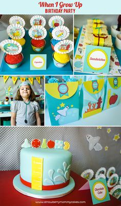 When I Grow Up Birthday Party ...such a cute idea!
