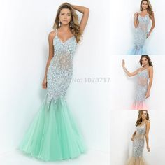 Free Shipping Sexy Cheap Mermaid Prom Dresses 2015 Halter Open Back Formal Party Dresses with Beads Crystals Rhinstones - $268.00 : Modsele.com