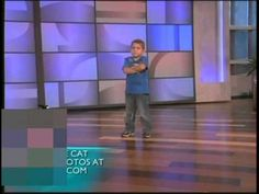 Please forgive the blob in the corner we had weather warnings. Ellen show 6 year old Tanner Edwards dances and gets a surprise from his favorite dancer Twitch! He is so cute!