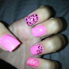 Pink leopard glitter