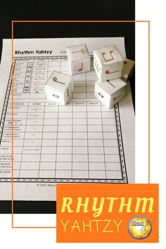 Take a chance and roll the rhythm dice! Great reinforcement of rhythms and their values and using them to compose in 3/4 and 4/4.