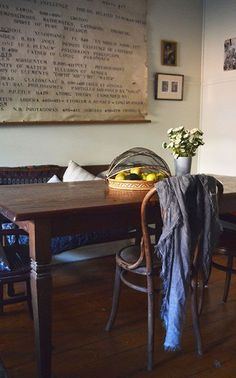 Real home: artist's rural abode full of vintage treasures - The Interiors Addict Dining Room Design, Wishbone Chair, Entryway Tables, Living Spaces, Sweet Home, Rustic, Interior Design, Artist, Neutral