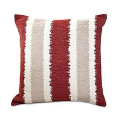 Chenille Stripe Cushion | Dunelm
