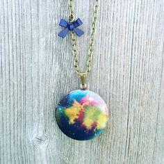 Consider your cosmic mind blown... http://ift.tt/1pKgUmZ #love #space #art #spiritual #galaxy #universe #cosmic #etsy #buylocal #locket #necklace