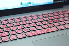 pink lovely laptop keyboard decal MacBook decal by ohyeahdecal, $11.99