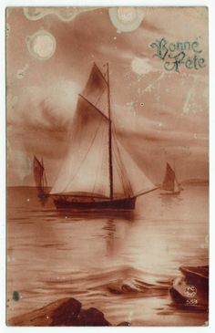 Postcards - Greetings & Congrads #  627- Happy Birthday - Sailing