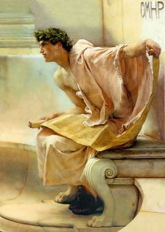 Detail from A Reading from Homer by Sir Lawrence Alma-Tadema 1885 oil on canvas Philadelphia Museum of Art Lawrence Alma Tadema, Academic Art, Philadelphia Museum Of Art, Oil Painting Reproductions, Traditional Paintings, Classical Art, Caravaggio, Les Oeuvres, Painting Prints