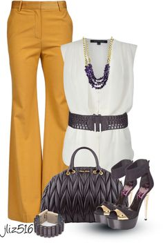 """Yellow Pants Contest"" by jliz516 on Polyvore"