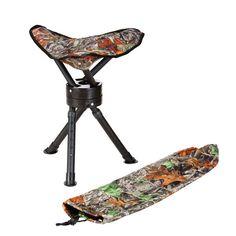 Camo Hunting Seat Swivel Camping Stool Bag Camouflage Gear Deer Duck Tool Tripod #BigGame