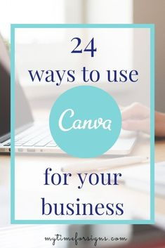 Canva is an amazing free graphic design program that has easy to use templates for everything you could possibly need to design. Here are 24 uses for Canva in your business. Online Marketing Companies, Marketing Program, Business Tips, Online Business, Creative Business, Graphic Design Tips, Blog Planner, Social Media Graphics, Blogging For Beginners
