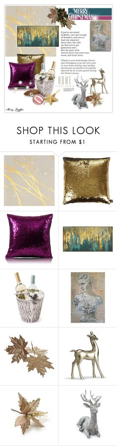 """""""First Snow"""" by mcheffer ❤ liked on Polyvore featuring interior, interiors, interior design, home, home decor, interior decorating, Calico Wallpaper, Aviva Stanoff, New View and Frontgate"""