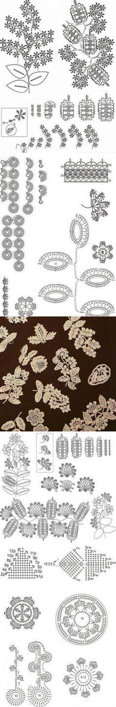 Irish lace patterns...♥ Deniz ♥