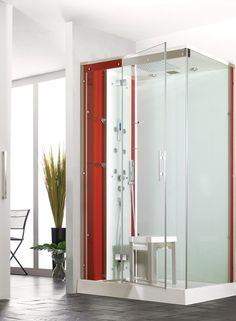 Inda, box doccia Sim fomato da una parete fissa e da un\'anta con ...