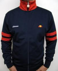 Ellesse Roma Track Top in Navy/Red