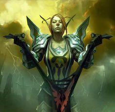 Lady Liadrin aka Shattered Sun Cleric card by Doug Alexander » Галерея » World of Warcraft