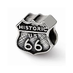This adds a sense of charm to your favorite collection.Sterling Silver Reflections Route 66 Bead. Model No.: QRS1135. Sterling Silver. Product Type: Jewelry. Jewelry Type: Beads. Material: Primary: St