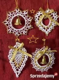 """Képtalálat a következőre: """"szydełkowe dzwoneczki schematy"""" Crochet Snowflake Pattern, Christmas Crochet Patterns, Holiday Crochet, Crochet Snowflakes, Christmas Snowflakes, Christmas Wreaths, Christmas Decorations, Christmas Ornaments, Crochet Tree"""