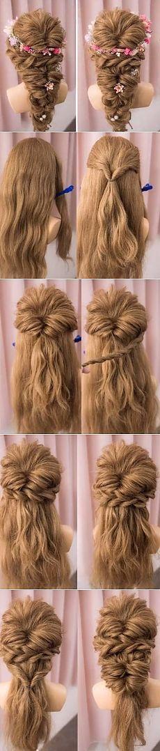 Вечерняя прическа на длинные волосы