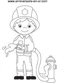 Coloriage sam le pompier caserne touret en bois - Dessin caserne pompier ...