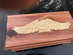A personal favorite from my Etsy shop https://www.etsy.com/listing/516179439/cedar-eagle-box-handmade-wooden-box