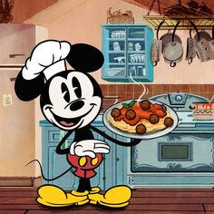 If he cooks for you hes a keeper! Mickey Mouse Shorts, Mickey Mouse Cartoon, Mickey Mouse And Friends, Mickey Minnie Mouse, Mickey Cartoons, Cartoons Love, Mickey Mouse Wallpaper Iphone, Disney Wallpaper, Retro Disney