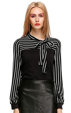 MEXI Women's Striped Long Puff Sleeve Cotton Casual Tops Blouses T-Shirt M Black Mexi http://www.amazon.com/dp/B00T39CQK6/ref=cm_sw_r_pi_dp_.J-0vb0FFJGXB