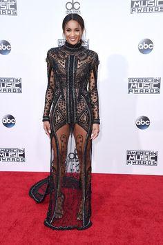 Ciara robe Reem Acra American Music Awards