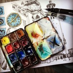 Image result for winsor newton watercolors
