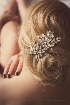 wedding bridal hair comb, bridal headpiece, Miss Nanna rhinestone crystal comb