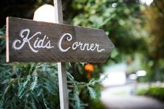 reclaimed wood directional sign