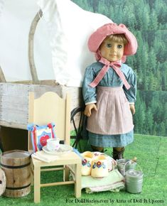 Camp Doll Diaries- Go Exploring in a Covered Wagon! Instructions on how to make this great covered wagon!