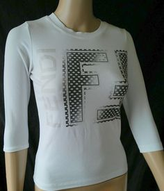 #twitter#tumbrl#instagram#avito#ebay#yandex#facebook #whatsapp#google#fashion#icq#skype#dailymail#avito.ru#nytimes #i_love_ny     FENDI White  3//4 Sleeve  Tops & Blouses Sz XS #Fendi #Blouse