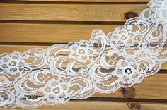 Raschel Lace Trim Ivory Ribbon Lace Wedding Lace by LaceDecoration