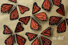 how to make wind-up paper butterflies that flutter out of an invitation or book!