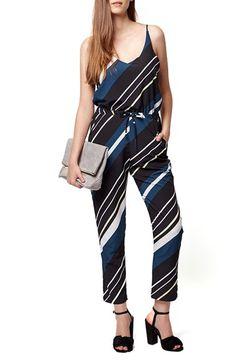Topshop Diagonal Stripe Jumpsuit available at #Nordstrom
