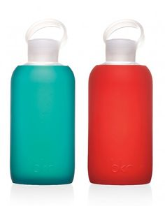 BRK Water Bottles  These silicone-wrapped glass vessels are so cute, she'll look forward to hydrating.     In Julep and Rocket, $28 each, BRK