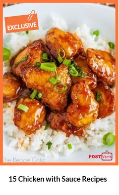 15 Chicken with Sauce Recipes.Tired of the same old roasted, grilled or baked chicken breasts? Transform your dinner to unique meal with these 15 easy sauces for any occasion. Check out at http://postverts.com/15-Chicken-with-Sauce-Recipes_08kwmrc