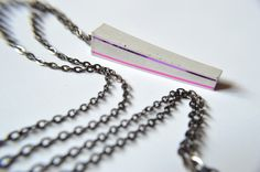 Pink and purple concrete necklace by PusPus on Etsy